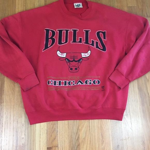 e20f5dfe9b2 Lee Shirts | Chicago Bulls Vintage Sweatshirt Spellout Logo Xxl ...
